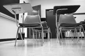 Photo of a desks in a classroom