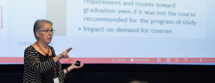 Dr. Barbara Brown at the USG Mapping for Success Event